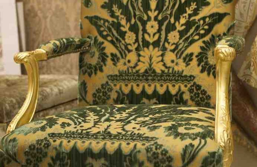 What type of vintage fabric is suitable for upholstery?