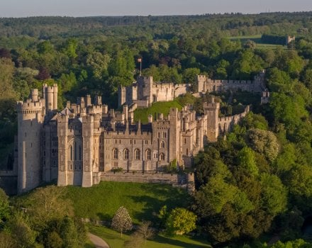 Arundel castle from the air