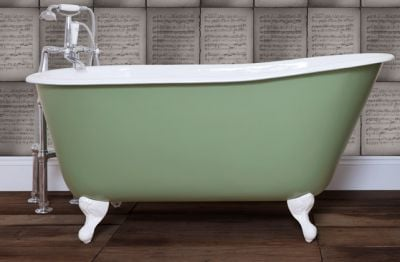 green roll top bath