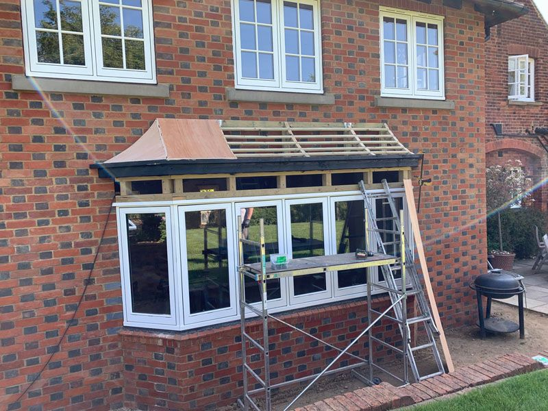 bay window roof framework