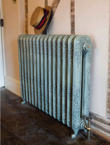 antiqued cast iron radiator