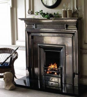 pewter cast iron fireplace