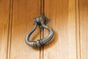 The Door Knocker Should Be Hung At A Comfortable Height To Allow Your  Visitors To Be Able To Reach It, And It Is Worth Taking Your Time To  Measure The Exact ...