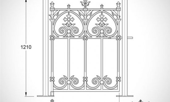 Terrace range of gates and railings
