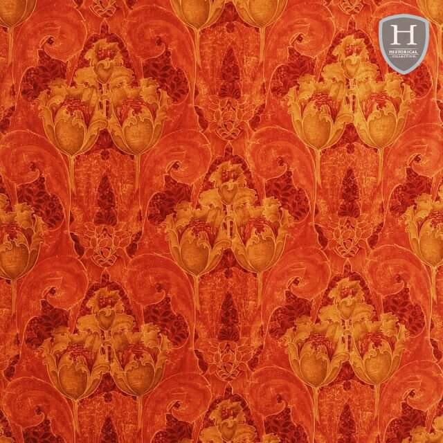 Camberwell velvet fabric - Indian Red