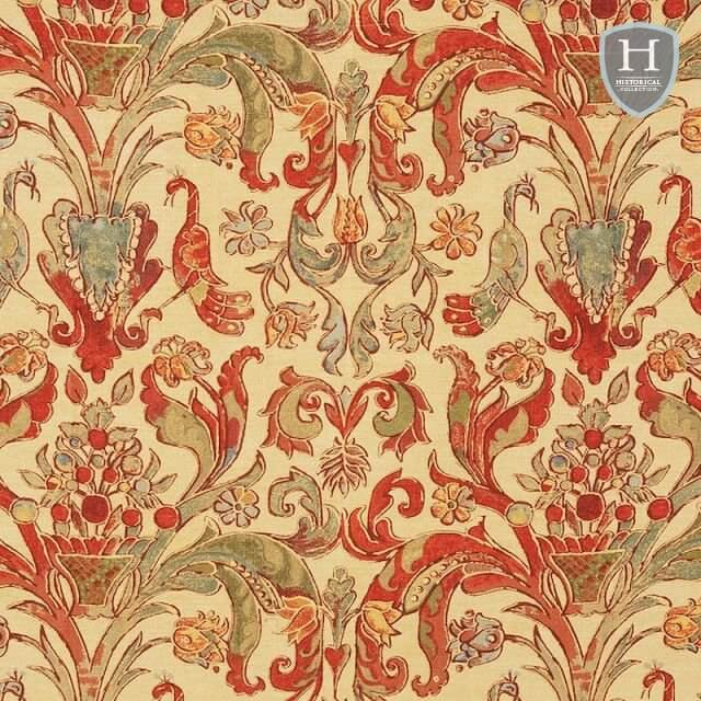 Peahen fabric - various colours