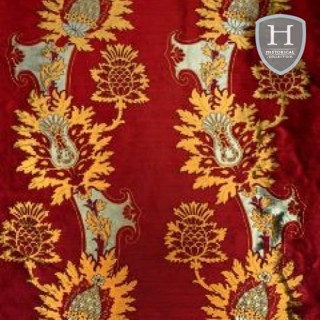 Malvern Picadilly Fabric - Red Gold