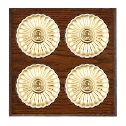 Decorative fluted light switches