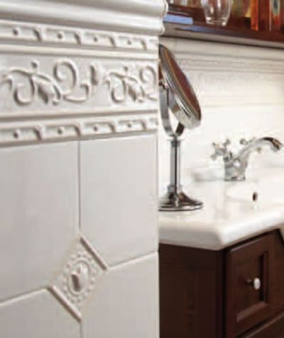 Bathroom relief tiles