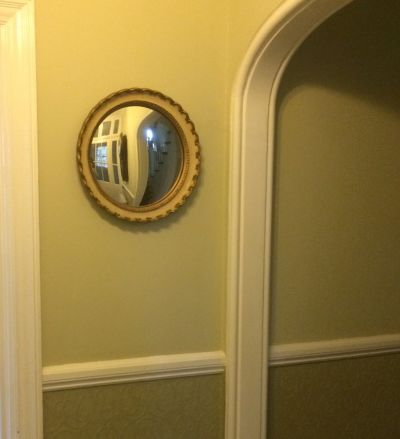 Hall mirror convex
