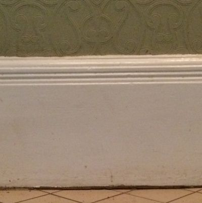 White skirting board