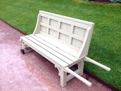 Powis Castle's moving bench