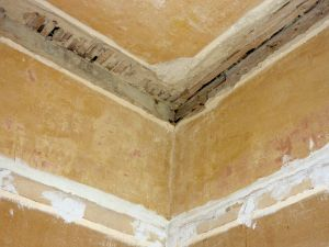 Removal of damaged plaster coving