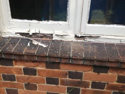 Rotten window frame