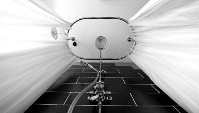 Victorian Shower Curtain Rail Ring chrome