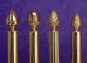 decorative curtain accessories Solid Brass Curtain Pole