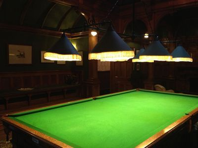 Victorian lights over pool table
