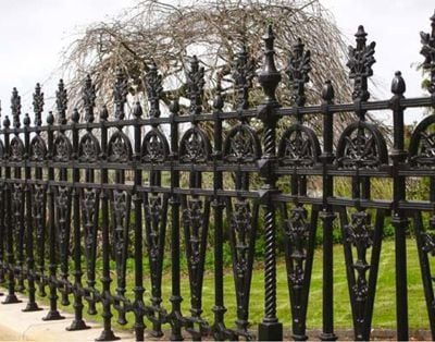 Victorian railings half height
