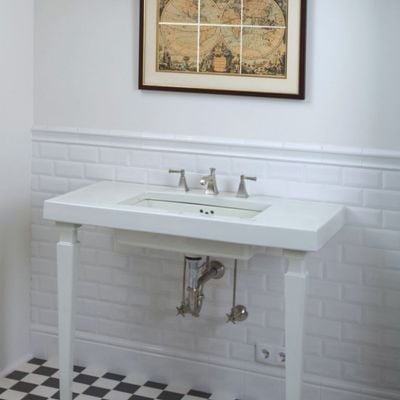 White bevelled Victorian House Tiles