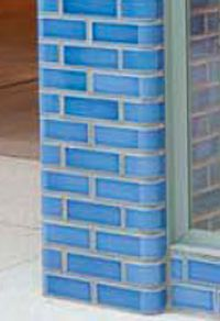 Blue glazed brick column
