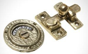 brass bathroom lock Victorian style bathroom accessories