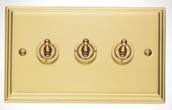 period light sockets and switches Brass toggle switch