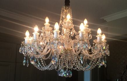 Bohemian crystal victorian chandelier dining room