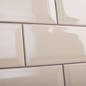 Cream bevel wall tiles