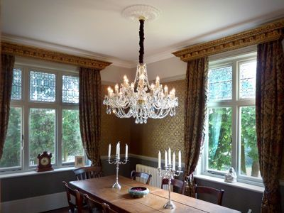 Pick the right size and style of Victorian chandelier for it's required place