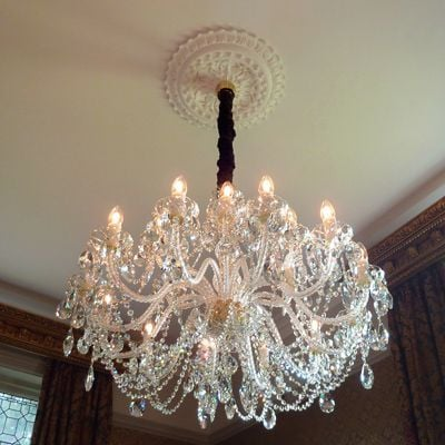 Installing a large chandelier