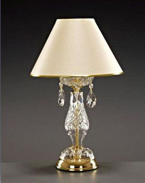 Lead crystal table Victorian lamps and shades