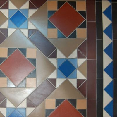 Mosaic tiled floor designs