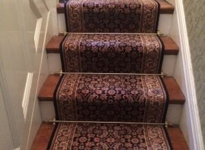 How To Fit Stair Rods and stair runner carpet