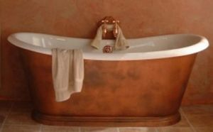 Victorian copper bath