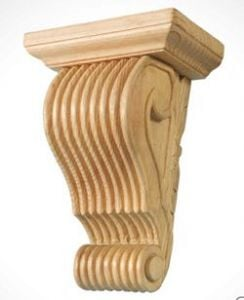 What are corbels? A large scrolled corbel with plinth