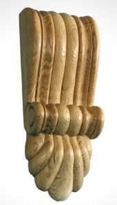 Victorian fluted corbel