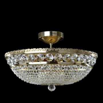 Large highly decorative low ceiling basket chandelier