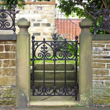 Victorian Terrace Garden Gate (traditional solid cast iron)