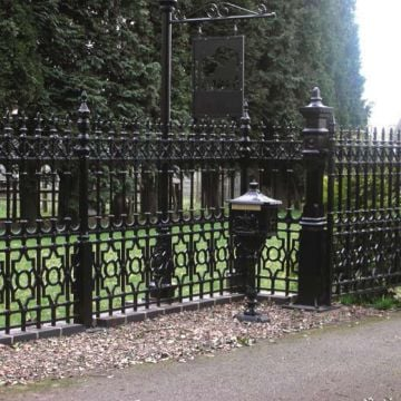 Dumfries Railings with root fixing