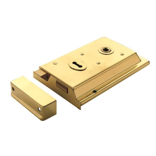 Rim Lock - Polished Brass