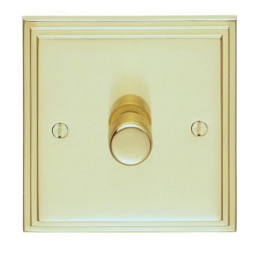 Stepped 1 Gang Dimmer Switch - brass, chrome or satin chrome