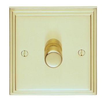 Stepped 1 Gang Dimmer Switch - brass, chrome or satin chrome