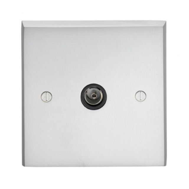 1 Gang TV Outlet in brass, chrome or satin chrome