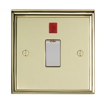 Stepped 1 Gang 20amp DP Switch - brass, chrome or satin chrome