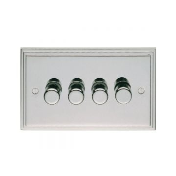 Stepped 4 Gang Dimmer Switch - brass, chrome or satin chrome