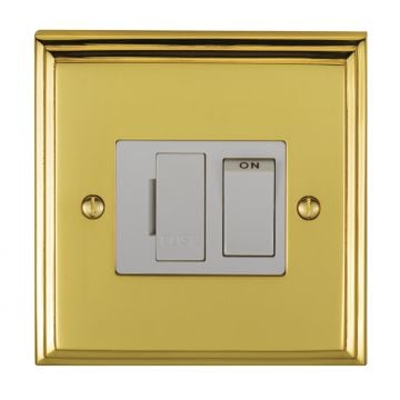 Stepped 13amp Switched Fuse Spur - brass, chrome or satin chrome