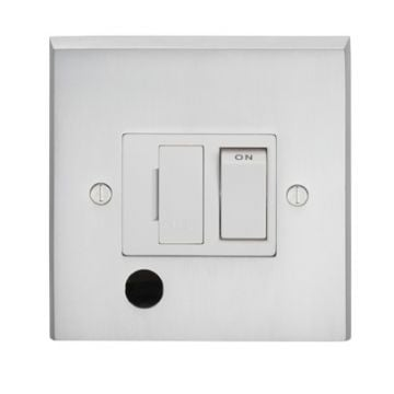 13amp Switched Fuse Spur Flex Outlet in brass, chrome or satin chrome