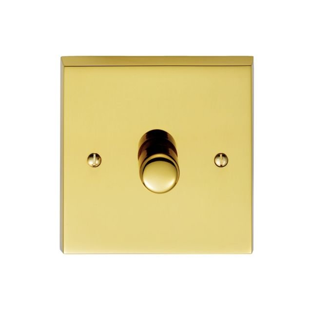1 Gang 250w Dimmer Switch in brass, chrome or satin chrome