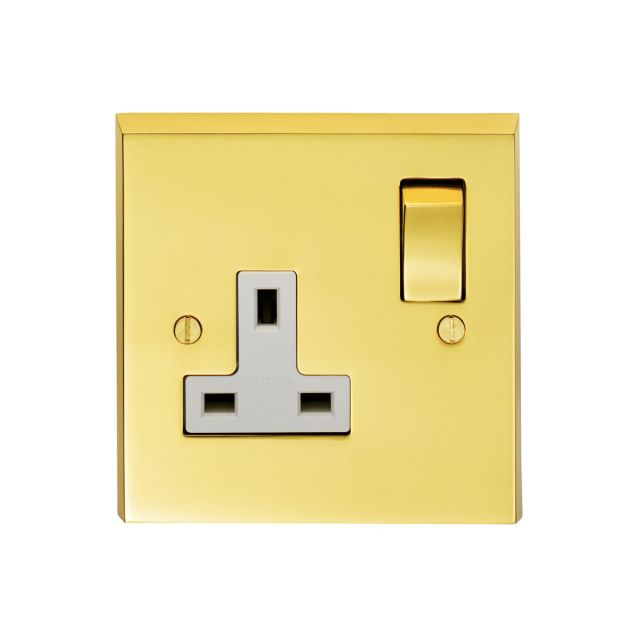 1 Gang 13amp DP Switched Socket - Brass, Chrome or Satin chrome