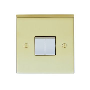 2 Gang 10amp 2way Switch in brass, chrome or satin chrome